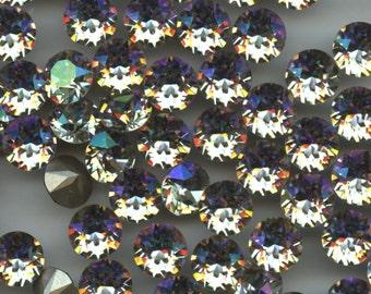 1088 SS39 LUG***  6 Swarovski rhinestones point back SS39 (8,3mm) crystal luminous green
