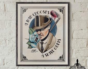 Bioshock Andrew Ryan Tattoo Print *ON SALE*