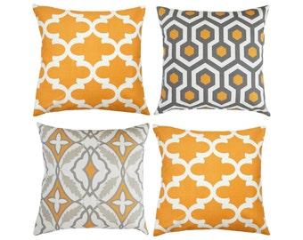 orange grey pillow pillowtaupe pillowsgray accent