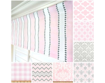 Light Pink Window Valance.Pastel Pink Curtain Valance.Pink Grey Valance.Pink Nursery Valance.Kitchen Valance.Grey Window Valance