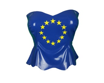 Latex EU Euro top peplum strapless top