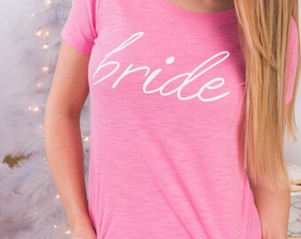 CLEARANCE Pink Bride tshirt