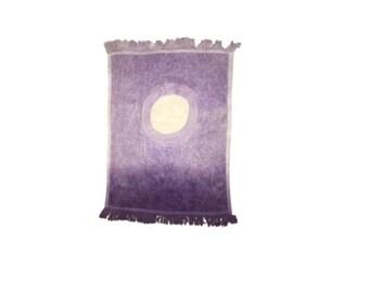Ombre Purple Hand Dyed Poncho Bib
