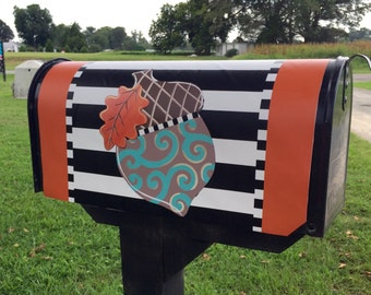 Acorn Magnetic Mailbox Cover, Fall, Vinyl Mailbox Cover, Outdoor Decor