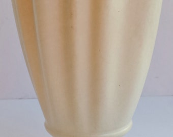 Brush Pottery USA Cream Colored Three Footed Vase