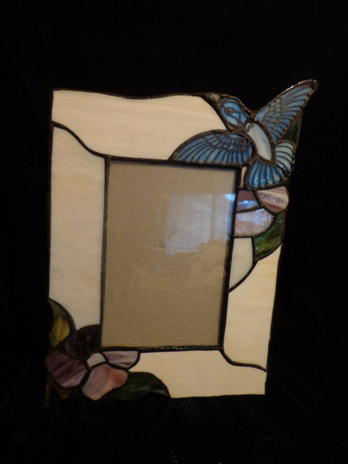 stained glass photo frame stained glass bluebird photo frame