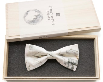 Marble Print Bowtie - Modern Boys Bowtie, Toddler Bowtie Toddler Bow tie, Groomsmen bow tie, Pre Tied and AdjustableNovioshk, H0256