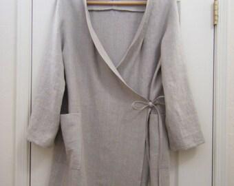 linen coat, spring coat