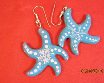 STARFISH PLAYFUL EARRINGS In Blue And Pink