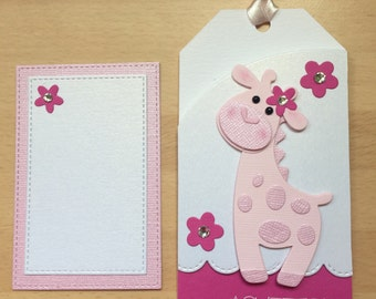 Handmade New Baby gift card holder with secret card compartment