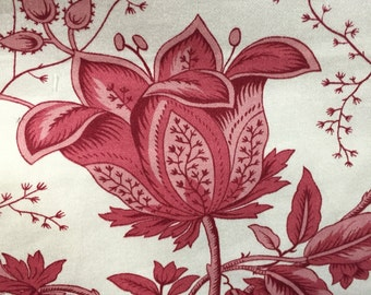 Waverly Floral - Old Lyme - Pink - Upholstery Fabric by the Yard