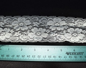 Grey Gray Stretch Lace by the Yard