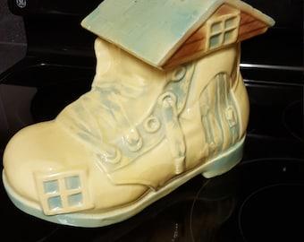 Brush McCoy Shoe House Jar