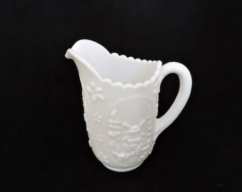 Vintage Milk Glass Windmill Milk Pitcher by Imperial Glass Corporation