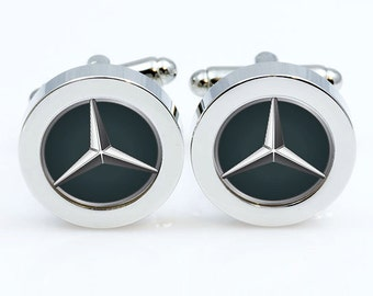 Mercedes cufflinks etsy for Mercedes benz earrings