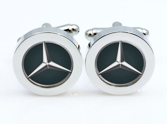 Mercedes benz cufflinkscar logo cuff link men gifts mens for Mercedes benz earrings