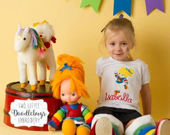 Rainbow Brite Shirt - Girls Shirt - Rainbow Brite - Birthday Shirt - Rainbow Birthday Party Shirt