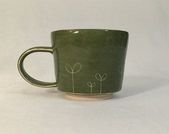 green sprout mug