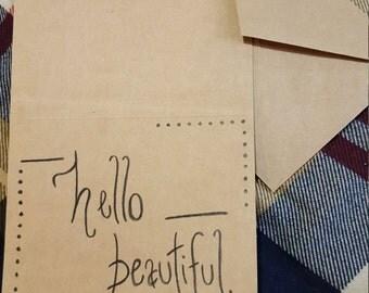 "Handmade ""Hello Beautiful"" Card"