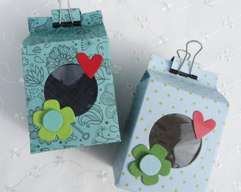 Milk carton style gift box