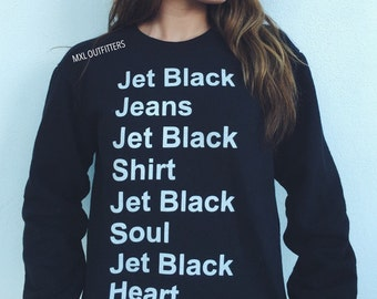 Jet Black Crewneck Sweatshirt