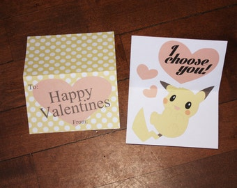 Pikachu Inspired Valentine Card (Digital Download)