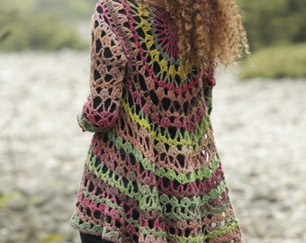 Crochet Circle Jacket - Size S-XXXL