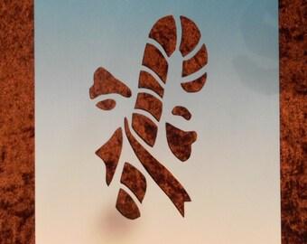 Christmas stencil sugar barley