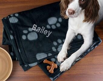 Personalised Paw Print Pet Blanket - Pet Throw - Dog blanket, Puppy blanket, Cat blanket, Kitten blanket