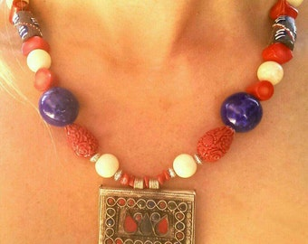 Necklace ethnic piece unique