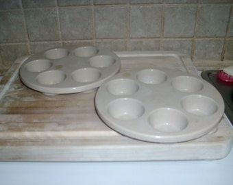 Vintage Anchor Hocking Microware plastic  muffin trays