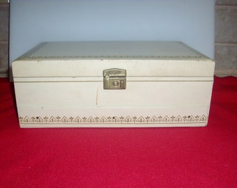 Vintage 1960's large  jewelry box