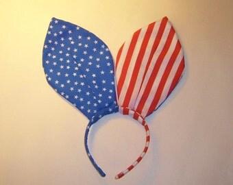 Bunny Ears Playboy Bunny Ears Stars and Stripes American Flag  Costume Cosplay