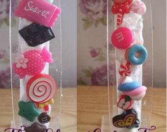 Decoden candy sweets hairband heart sweeties donuts cabochons cute cream fimo