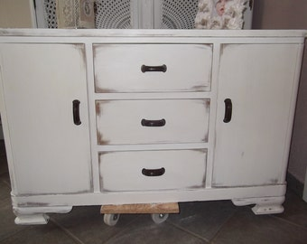 Old chest of drawers sideboard Cabinet Shabby Chic