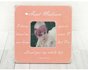 Mothers Day gift for Aunt Aunt Gift, Aunt Frame, Aunt Picture Frame, Aunt Photo Frame from Niece from Nephew Sister Gift Sister Frame