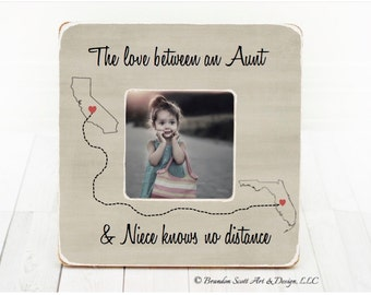 Mothers Day Gift for Aunt, Aunt Frame, Aunt Gift, Niece Frame Niece Gift Aunt and Niece Long Distance Frame, Aunt and Niece Picture Frame