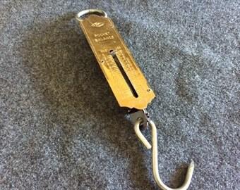 Vintage German Pocket Balance hanging scale