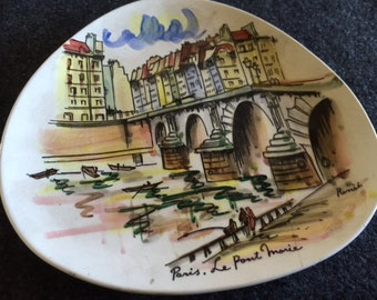 Vintage Arnart Creation set of six Paris plates