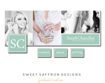 INSTANT DOWNLOAD // Facebook timeline cover - Photoshop Template