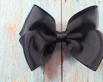 Medium Black Toddler Hair Bow, Toddler Bow, Black Hair Bow, Medium Hair Bow, Cute Toddler Bow, Cute Black Toddler Bow, Cue Black Bow, Bow