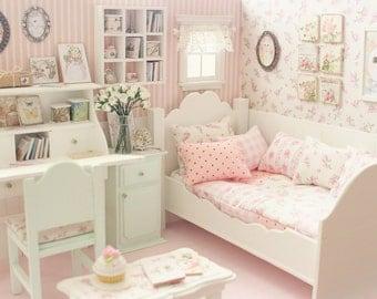 """Bedroom Diorama """"Tales of Cats"""" - Blythe/Pullip/Lati/Pukifee/Yosd/BJD"""