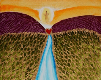 Behold.  I Am Coming Soon.  Christian Art Giclee Print On Canvas