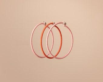 Minimalist cotton bracelet trio - pink
