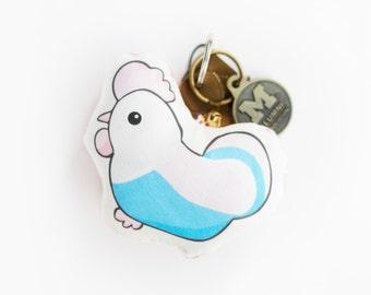 Chicken Keychain | Christmas Ornaments | Christmas Gifts | Pillow Keychains | Cute Keychains | Chicken Gifts | Chicken | Stocking Stuffer