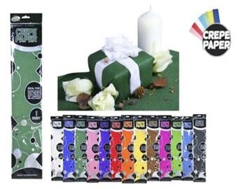 GREEN - Crepe Paper 1 Sheets 50x200cm Premium Quality 40% Stretch, CR370