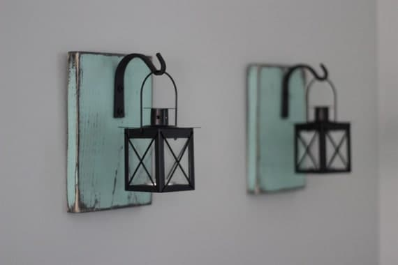 Items similar to Rustic Lantern Wall Sconce on Etsy