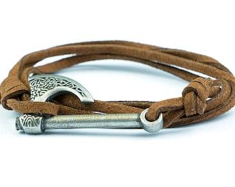 Axe bracelet HALFDAN with black antique silver axe