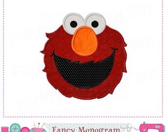 Elmo,Elmo design,Elmo embroidery,Elmo applique,Boys applique.