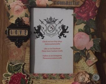 Custom Romantic Floral Frame